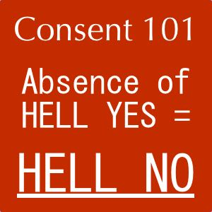 #consentmatters – From the case files… NO means NO.